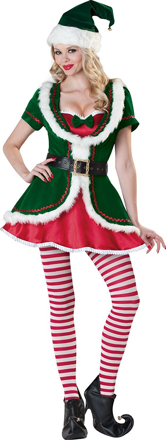 Cuteshower Women's Elf Deluxe Sexy Santa Outfits
